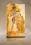 Egyptian painting on stucco of Pharaoh Amenhotep I. 11152-1145BC, Thebes. Neues Reiche Museum, Berlin. Cat No AM2061 .<br /> <br /> If you prefer to buy from our ALAMY PHOTO LIBRARY  Collection visit : https://www.alamy.com/portfolio/paul-williams-funkystock/ancient-egyptian-art-artefacts.html  . Type -   Neues    - into the LOWER SEARCH WITHIN GALLERY box. Refine search by adding background colour, subject etc<br /> <br /> Visit our ANCIENT WORLD PHOTO COLLECTIONS for more photos to download or buy as wall art prints https://funkystock.photoshelter.com/gallery-collection/Ancient-World-Art-Antiquities-Historic-Sites-Pictures-Images-of/C00006u26yqSkDOM