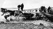A KLM plane crash in Shannon Airport which killed 28 people in 1954.<br /> Picture by Donal MacMonagle - macmonagle.com