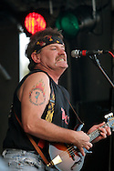 American Bluegrass band Hayseed Dixie, playing the.Newton Music Festival, where they headlined. The band members are: Barley Scotch (vocals, acoustic guitar and violin), Don Wayne Reno (banjo), Dale Reno (mandolin) and Jason D. Smith (bass).