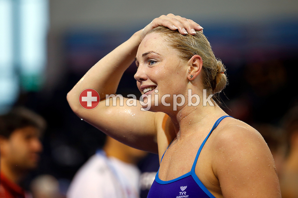 Jeanette OTTESEN of Denmark is pictured during a training session one day prior to the start of the 16th European Short Course Swimming Championships held at the aquatic complex L'Odyssee in Chartres, France, Wednesday, Nov. 21, 2012. (Photo by Patrick B. Kraemer / MAGICPBK)