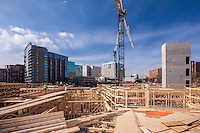 Construction site photography of 19 Clarendon Apartments in Arlington VA by Virgina architectural photographer Jeffrey Sauers of Commercial Photographics