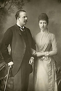 'Alexander William George Duff, 1st Duke of Fife (1849-1912) and his Duchess pictured c1890,formerly Princess Louise (1867-1931) eldest daughter of Edward VII and Queen Alexandra'