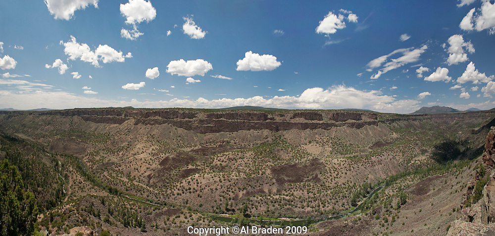 Confluence of Rio Grande and Red River at Wild Rivers NRS, Questa, New Mexico.