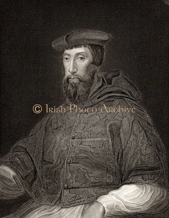 Cardinal Reginald Pole (1500-1558) English prelate. Archbishop of Canterbury. Persecuted Protestants during reign of Mary I. Engraving after the portrait by Titian.