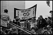 Madison, WI – May, 1970. Protesters against the war in Vietnam at the Capitol, led by Veterans for Peace in Vietnam. On May 1, 1970, there was a general student strike in response to the news that the U.S. had expanded bombing into Cambodia. There was a march against the war, led by Veterans for Peace in Vietnam; and after the May 4 shootings at Kent State University in Ohio, there were more protests at UW Madison, which led to the police being called in, and teargassing demonstrators in the streets and on campus. The Wisconsin Welfare Rights Organization wanted to divert military funds to social welfare.