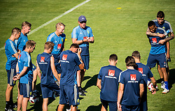 July 4, 2018 - Gelendzhik, Russia - 180704 Head coach Janne Andersson of the Swedish national football team talks to the players at a practice session during the FIFA World Cup on July 4, 2018 in Gelendzhik..Photo: Petter Arvidson / BILDBYRN / kod PA / 92081 (Credit Image: © Petter Arvidson/Bildbyran via ZUMA Press)