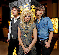 The Band Perry poses at the Union Station on Tuesday, Aug. 31, 2010, in Nashville, Tenn. (AP Photo/Donn Jones)