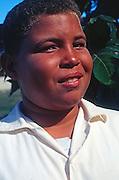 Teenage school boy, Cayman Brac, Cayman Islands,