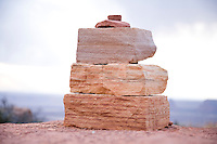Cairn in Canyonlands National Park near Moab, Utah.