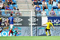 Fotball , Eliteserien<br /> 11.06.2021 , 20210611<br /> Vålerenga - Lillestrøm<br /> Lillestrøms Lars Mogstad Ranger scorer LSKs mål til 0-1<br /> Foto: Sjur Stølen / Digitalsport