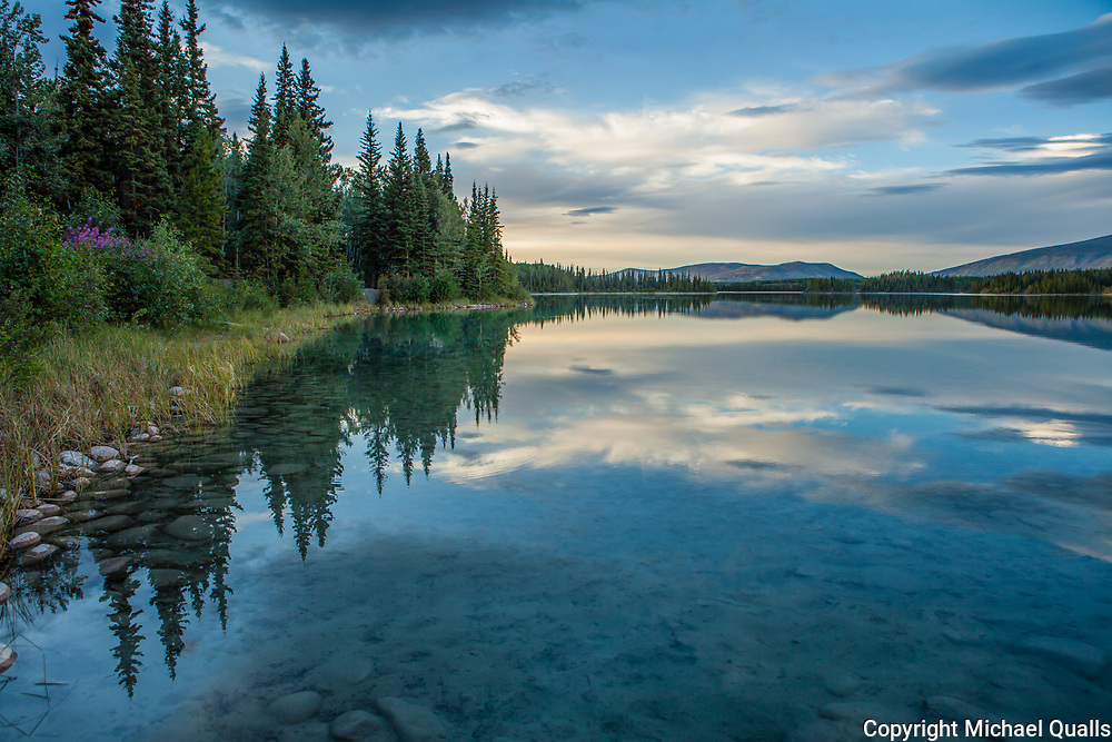 Boya Lake Shoreline, British Columbia.