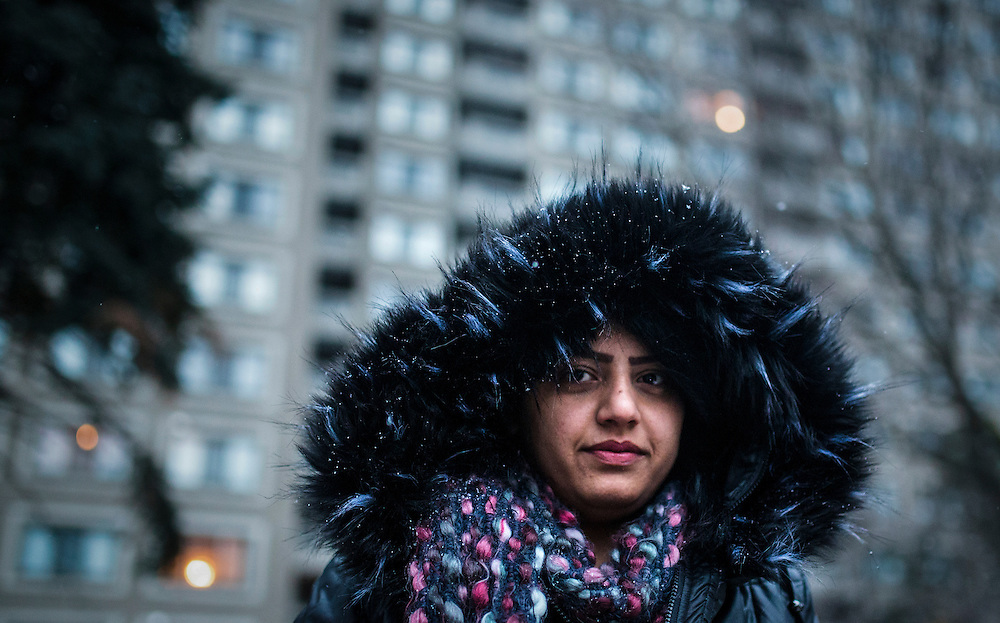 Syrian refugee Fusie Batal Al Hasan looks on in Mississauga, Ontario, Canada, Thursday January 21, 2016.   (Mark Blinch for the BBC)