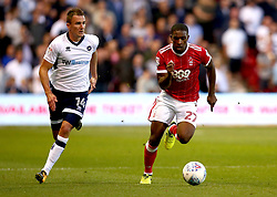 Tendayi Darikwa of Nottingham Forest goes past Jed Wallace of Millwall - Mandatory by-line: Robbie Stephenson/JMP - 04/08/2017 - FOOTBALL - The City Ground - Nottingham, England - Nottingham Forest v Millwall - Sky Bet Championship
