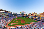 [Note:  This photo is an HDR compilation of 5 different exposures that were merged during post-processing.] A general view of Target Field during a game between the Los Angeles Angels and the Minnesota Twins on August 22, 2010 in Minneapolis, Minnesota.