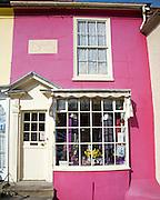 Darcy B women's clothes shop, Georgian shop front on Market Hill, Woodbridge, Suffolk