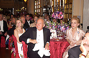 Viscountess Linley, Sir Mark Weinberg and Carolina Herrera, Ball at Blenheim Palace in aid of the Red Cross, Woodstock, 26 June 2004. SUPPLIED FOR ONE-TIME USE ONLY-DO NOT ARCHIVE. © Copyright Photograph by Dafydd Jones 66 Stockwell Park Rd. London SW9 0DA Tel 020 7733 0108 www.dafjones.com