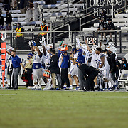 ORLANDO, FL - OCTOBER 03:  The Tulsa Golden Hurricane sideline reacts to the game winning field goal against the Central Florida Knights at Bright House Networks Stadium on October 3, 2020 in Orlando, Florida. (Photo by Alex Menendez/Getty Images) *** Local Caption ***