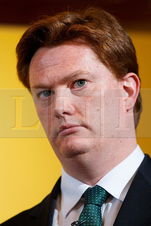 © Licensed to London News Pictures. 07/04/2015. LONDON, UK. Danny Alexander speaking at a Liberal Democrat press conference at National Liberal Club in London on Monday, 7 April 2015. Photo credit : Tolga Akmen/LNP
