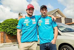 Misel Zerak and Martin Cater at departure of Slovenian Men Ski Team to training camp in Argentina and Chile on August 21, 2014 in SZS, Ljubljana, Slovenia. Photo by Vid Ponikvar / Sportida.com
