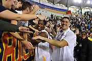 DESCRIZIONE : Roma LNP A2 2015-16 Acea Virtus Roma Mens Sana Basket 1871 Siena<br /> GIOCATORE : Riccardo Casagrande<br /> CATEGORIA : esultanza postgame pubblico tifosi<br /> SQUADRA : Acea Virtus Roma<br /> EVENTO : Campionato LNP A2 2015-2016<br /> GARA : Acea Virtus Roma Mens Sana Basket 1871 Siena<br /> DATA : 06/12/2015<br /> SPORT : Pallacanestro <br /> AUTORE : Agenzia Ciamillo-Castoria/G.Masi<br /> Galleria : LNP A2 2015-2016<br /> Fotonotizia : Roma LNP A2 2015-16 Acea Virtus Roma Mens Sana Basket 1871 Siena