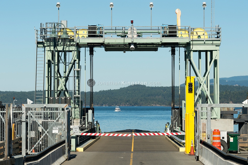 The ferry terminal in Friday Harbor, Washington, USA.