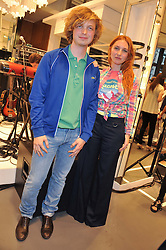 JOSEPHINE DE LA BAUME and her brother ALEXANDRE DE LA BAUME at a party to celebratethe opening of the Lacoste Flagship Store at 44 Brompton Road, Knightsbridge, London on 20th June 2012.