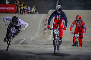 #696 (WHYTE Tre) GBR and #19 (POSEY Justin) USA at the 2016 UCI BMX Supercross World Cup in Manchester, United Kingdom<br /> <br /> A high res version of this image can be purchased for editorial, advertising and social media use on CraigDutton.com<br /> <br /> http://www.craigdutton.com/library/index.php?module=media&pId=100&category=gallery/cycling/bmx/SXWC_Manchester_2016