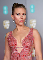Scarlett Johanson attending the 73rd British Academy Film Awards held at the Royal Albert Hall, London. Photo credit should read: Doug Peters/EMPICS Entertainment
