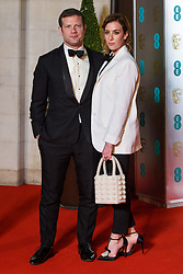 Dermot O'leary and Dee Koppang attending the after party for the 72nd British Academy Film Awards, at the Grosvenor House Hotel in central London. Picture date: Sunday February 10th, 2019. Photo credit should read: Matt Crossick/ EMPICS Entertainment.