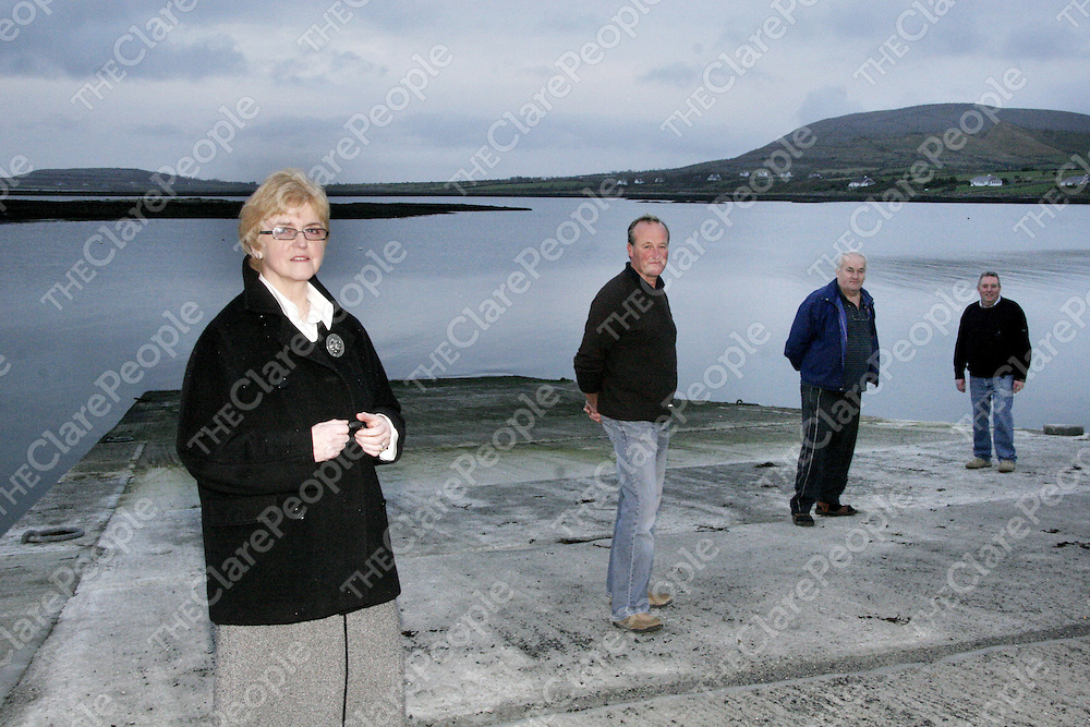 Members of the Ballyvaughan Habour and Slipway committee make sure everything is ready for its grand opening next Friday.<br /> From left: Marie Greene, Patsy Mulllins - Chairman, Eddie O' Brien and Johnny Connole.<br /> <br /> Photograph by Yvonne Vaughan.