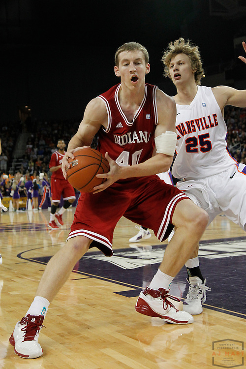 16 November 2011: Indiana Forward Cody Zeller (40)  as the Indiana Hoosiers played the Evansville Purple Aces in a college basketball game in Evansville, Ind.