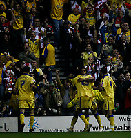 Photo: Steve Bond.<br />Derby County v Southampton. Coca Cola Championship. Play Off Semi Final, 2nd Leg. 15/05/2007. Jhon Viafara celebrates his second in front of his own fans