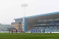 Football - 2020 / 2021 Emirates FA Cup - Round 2 - Gillingham vs Exeter City - Priestfield Stadium<br /> <br /> A minute's silence for Diego Armando Maradona before the game.<br /> <br /> COLORSPORT/ASHLEY WESTERN