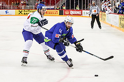 Matic Podlipnik of Slovenia during Ice Hockey match between National Teams of Italy and Slovenia in Round #5 of 2018 IIHF Ice Hockey World Championship Division I Group A, on April 28, 2018 in Arena Laszla Pappa, Budapest, Hungary. Photo by David Balogh / Sportida
