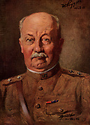 General Hunter Liggett (1857-1935) American Army officer who graduated from West Point in 1879. In the First World War he served as Pershing's chief-of-staff. In October 1918 he succeeded Pershing. Liggett in 1918.