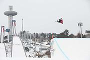 Billy Morgan, Great Britain, during the mens snowboard big air final at the Pyeongchang 2018 Winter Olympics on 24th February 2018, at the Alpensia Ski Jumping Centre in Pyeongchang-gun, South Korea