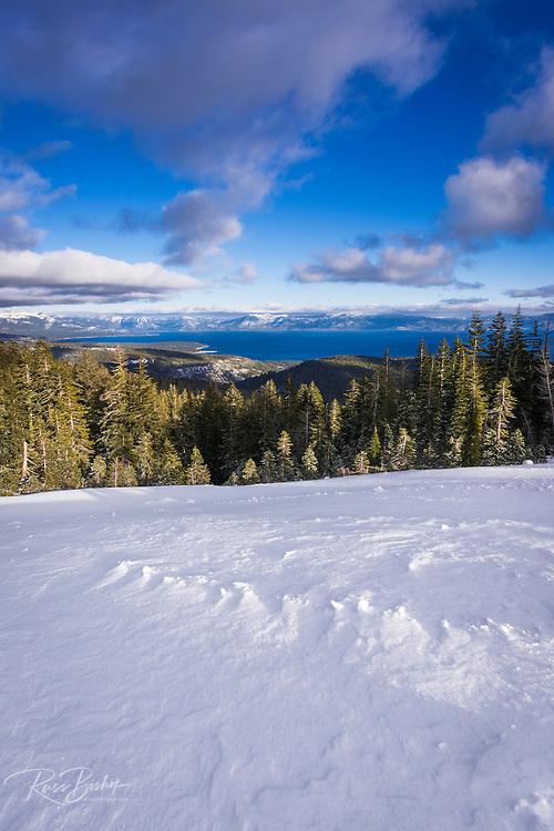 Lake Tahoe from Alpine Meadows ski area, Squaw Valley, California