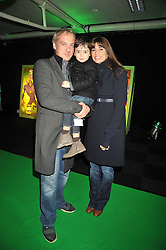 ANTON & LISA BILTON and their son ORLANDO at the premier of Ben Ten Alien Force at the Old Billingsgate Market, City of London on 15th February 2009.
