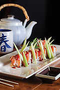 The Indian Summer Roll from Wayo Sushi Bar and Grill located in Springfield, MO. Photo by Brandon Alms Photography