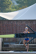 Henley-On-Thames, Berkshire, UK., Wednesday,  12/08/2020,  GBR W1X., Vicky THORNLEY, boating from Leander Club for training,  [ Mandatory Credit © Peter Spurrier/Intersport Images], , Training during, the  coronavirus (COVID-19), pandemic,
