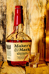 Studio work with Whiskey or Whisky as Maker's Mark puts it.