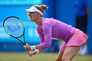 Alison Riske (USA) looks on during her match against Magdalena Rybarikova (SVK). The Aegon Open Nottingham 2017, international tennis tournament at the Nottingham tennis centre in Nottingham, Notts , day 4 on Thursday 15th June 2017.<br /> pic by Bradley Collyer, Andrew Orchard sports photography.