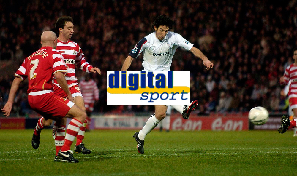 Photo: Jed Wee/Sportsbeat Images.<br />Doncaster Rovers v Bolton Wanderers. The FA Cup. 06/01/2007.<br /><br />Bolton's Andranik scores their second goal.