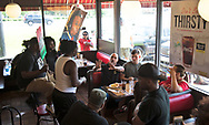 Saraland Alabama, May 20, 2018, Upset diners in Saraland Waffle house as protesters chant in the restuarant in support of Chikesia Clemons.