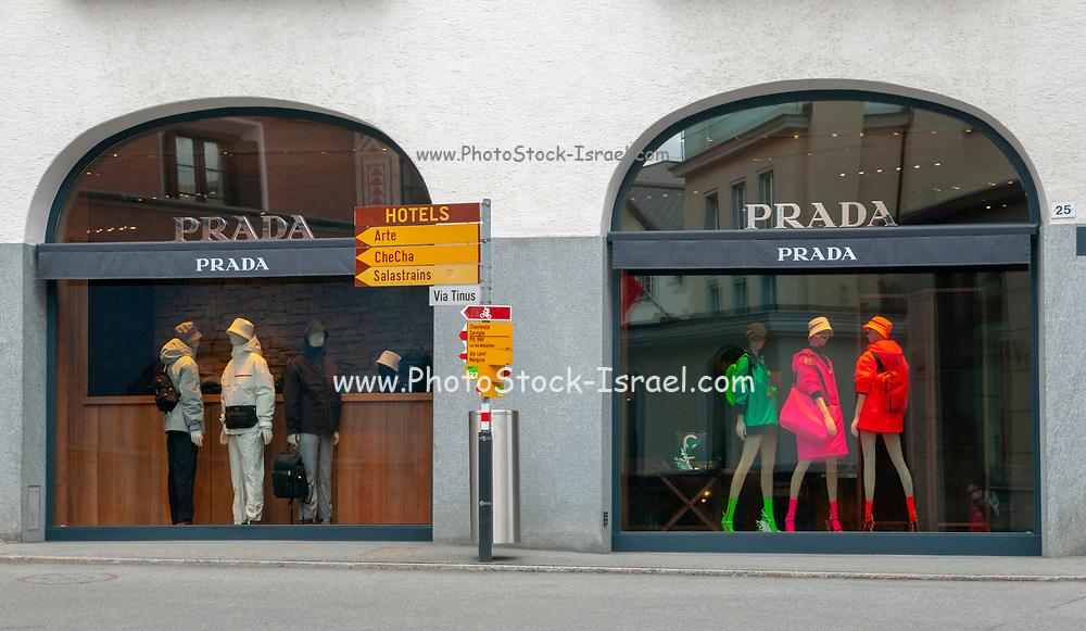 Prada shop in St. Moritz, Switzerland