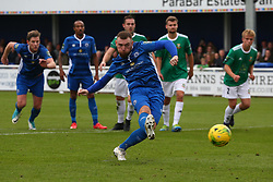 October 7, 2017 - Billericay, England, United Kingdom - Billy Bricknell of Billericay Town scores the winning goal from the penalty spot.during Bostik League Premier Division match between Billericay Town against Hendon FC at New Lodge Ground, Billericay on 07 Oct 2017  (Credit Image: © Kieran Galvin/NurPhoto via ZUMA Press)