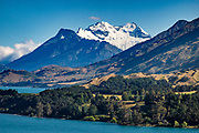 Mount Earnslaw rises above Lake Wakatipu in the Otago region, near Glenorchy, South Island of New Zealand. Mt Earnslaw or Pikirakatahi (2830m / 9249 ft) is the second highest peak in Mount Aspiring National Park. In 5 days, we circumnavigated Mount Earnslaw on the strenuous Rees-Dart Track for 39 miles plus 12.5 miles side trip to spectacular Cascade Saddle.
