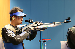 05.09.2015, Olympia Schiessanlage Hochbrueck, Muenchen, GER, ISSF World Cup 2015, Gewehr, Pistole, Herren, 10 Meter Luftgewehr, im Bild Yifei Cao (CHN) // during the men's 10M air rifle competition of the 2015 ISSF World Cup at the Olympia Schiessanlage Hochbrueck in Muenchen, Germany on 2015/09/05. EXPA Pictures © 2015, PhotoCredit: EXPA/ Eibner-Pressefoto/ Wuest<br /> <br /> *****ATTENTION - OUT of GER*****