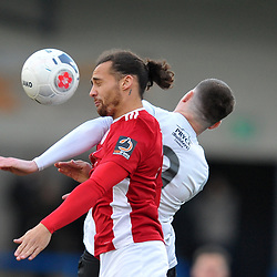 TELFORD COPYRIGHT MIKE SHERIDAN Ellis Myles of Brackley during the Vanarama Conference North fixture between AFC Telford United and Brackley Town at the New Bucks Head on Saturday, January 4, 2020.<br /> <br /> Picture credit: Mike Sheridan/Ultrapress<br /> <br /> MS201920-039