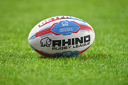 General view of the Rhino Rugby League matchday ball